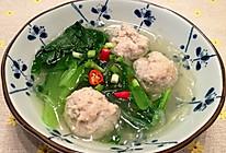 小白菜汆丸子汤的做法