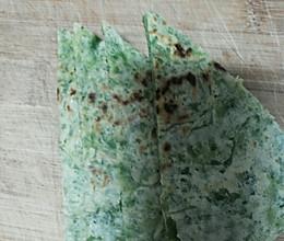 芹菜叶面糊饼的做法