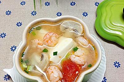 豆腐虾仁一锅鲜——冬季暖身