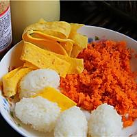 #丘比沙拉酱#胡萝卜清甜寿司的做法图解3