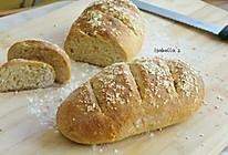 免揉全麦燕麦面包的做法