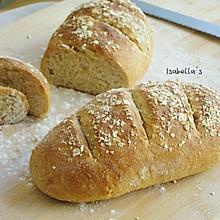 免揉全麦燕麦面包