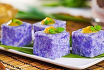 紫砂蓝花糯米糕的做法