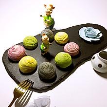 彩色酥皮月饼#kitchenAid的美食故事#