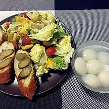 酸黄瓜法棍沙拉#急速早餐#