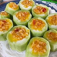 #饕餮美味视觉盛宴#蒜蓉粉丝蒸丝瓜的做法图解6