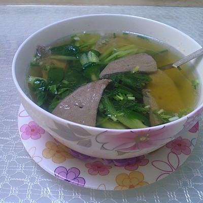 猪肝青菜汤`