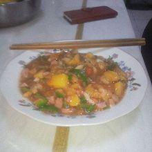 菠萝饭和菠萝菜
