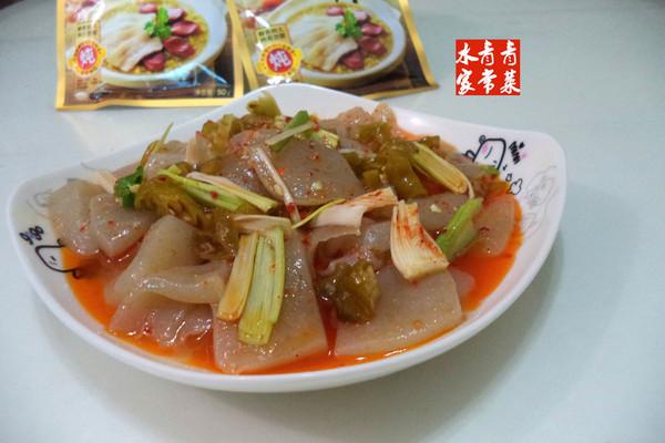 大喜大牛肉粉试用----炒蘑芋豆腐的做法