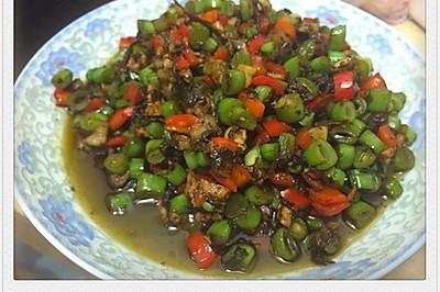 榄菜四季豆肉沫