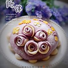 紫薯玫瑰花蛋糕