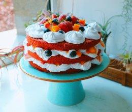 爱上红丝绒裸蛋糕的做法