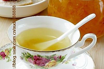 清火润肺的蜜炼胡柚茶