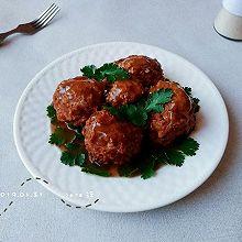 蒸炸蛋豉藕肉丸