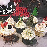 圣诞杯子蛋糕#安佳烘焙学院#