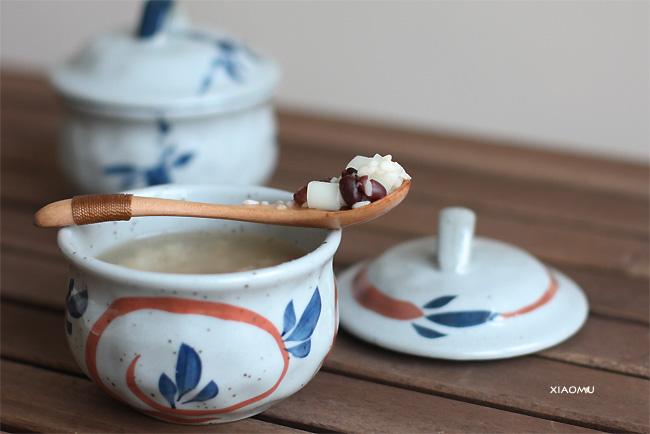 酒酿蜜豆年糕汤