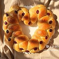 蔓越莓椰蓉土豆全麦爱心面包#我的莓好食光#