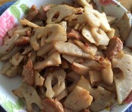 莲藕炒肉片的做法