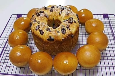 蔓越莓手撕面包和小餐包