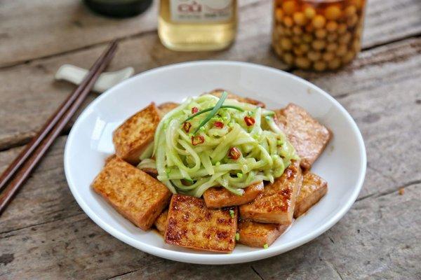 黄瓜豆腐#金龙鱼外婆乡小榨菜籽油 最强家乡菜#的做法