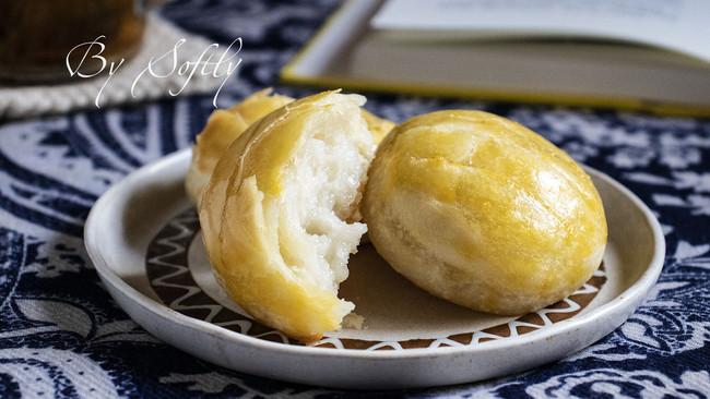 植物油版老婆饼(牛奶麻薯馅)的做法