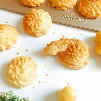 酥到掉渣的黄油曲奇饼干 网红菊花挤花款#相约MOF#的做法图解24