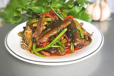 鳝鱼炒芹菜