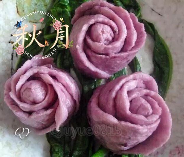 紫薯玫瑰花卷_qiuyue0815的美食日记