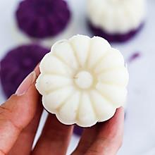 #秋天怎么吃#紫薯山药糕
