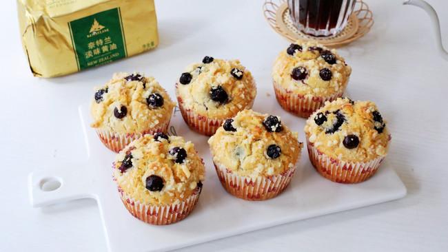 #奈特兰草饲营养美味#酥粒蓝莓麦芬蛋糕的做法