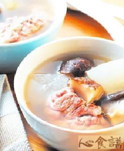 香菇玉米汤打印菜谱龙骨胡萝卜鸡汤山药图片