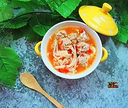番茄肉丸汤的做法