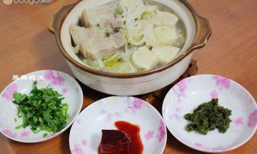 东北酸菜白肉锅的做法