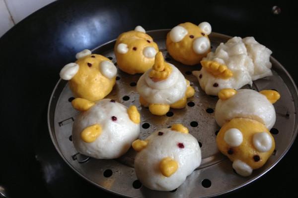 动物馒头花样做法固)�_动物馒头生日聚会的做法