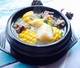 #秋天怎么吃#糯米山药玉米筒骨汤的做法