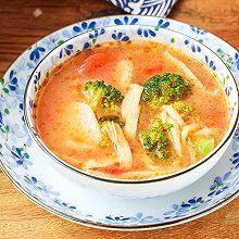 番茄菌菇年糕汤