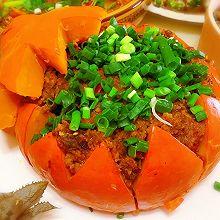 金瓜粉蒸排骨盅#春天肉菜这样吃#