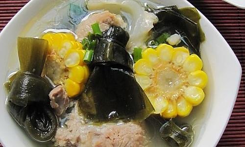 肉骨头海带玉米汤的做法