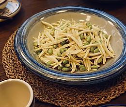茭白炒毛豆米的做法
