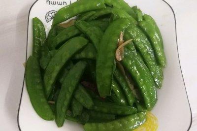 健康解腻:蒜香荷兰豆