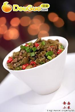 肉末酸豇豆的做法