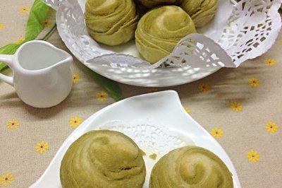 紫薯蛋黄抹茶酥#九阳烘焙剧场#