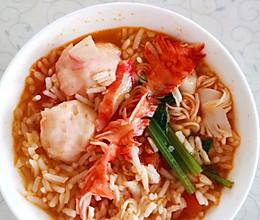 懒人海鲜番茄捞饭的做法
