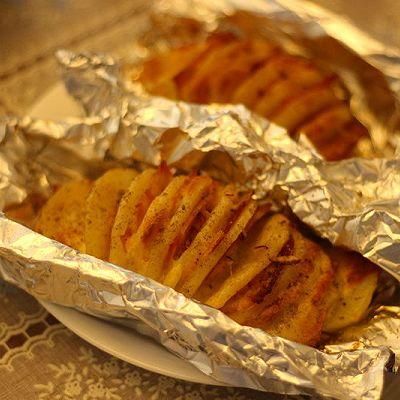 培根芝士风琴土豆