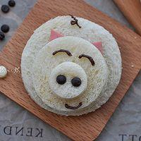 吐司卡通吃#最萌缤纷儿童节#的做法图解2