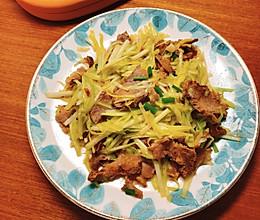 韭黄炒牛肉的做法