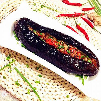 香辣肉酱烤茄子