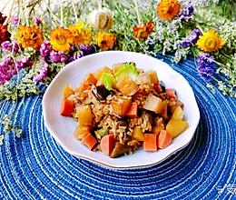 #换着花样吃早餐#土豆茄子焖饭的做法
