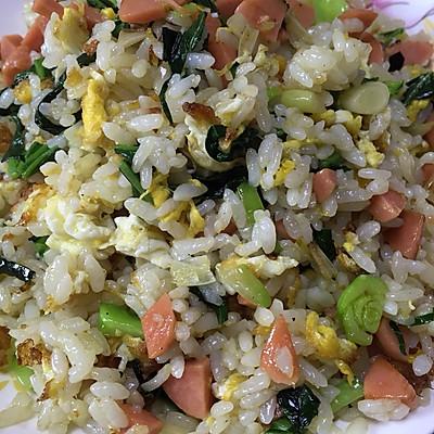 火腿青菜蛋炒饭