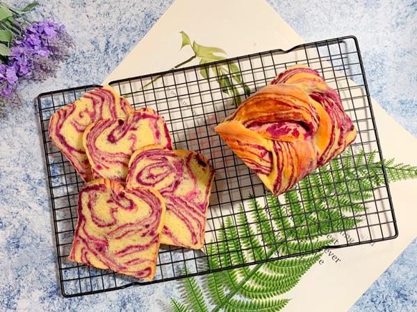 超美丽的紫薯大理石吐司